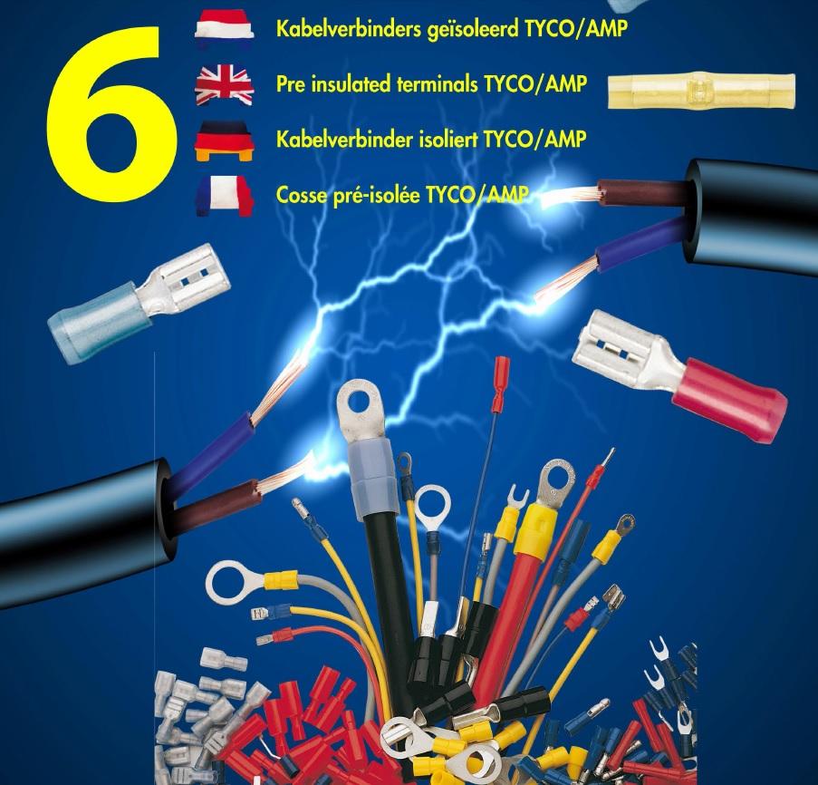 Kabelverbinders geïsoleerd TYCO / AMP